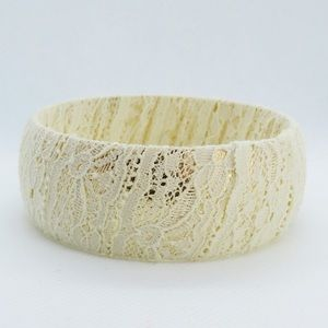 Anthropologie Lace Wrapped Bracelet